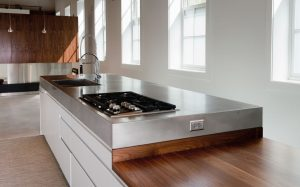Troy Lund Matte Stainless Steel Countertops Chicago IL